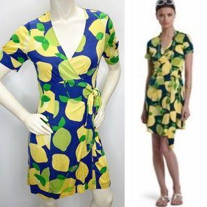 Lilly Pulitzer Downie Silk Wrap Lemon Drop Dress